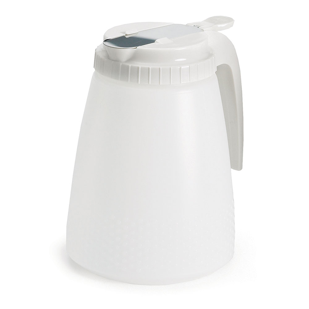 Tablecraft 748W Liquid Dispenser, 48 oz., White ABS Top, All Purpose