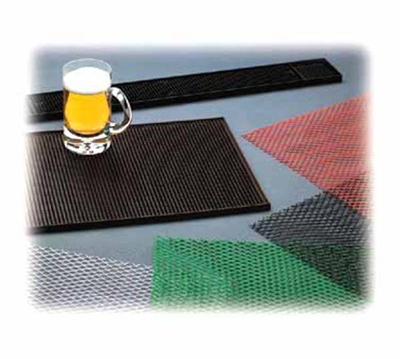 Tablecraft 753BK Bar Mat, 24 x 3-1/4-in, Black