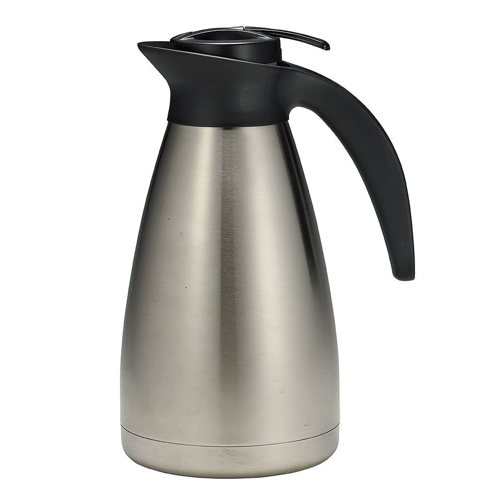 Tablecraft 769 68-oz Stainless Steel Coffee Decanter w/ Plastic Thumb Press