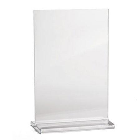 "Tablecraft 85110 Tabletop Menu Card Holder - 8.5"" x 11"", Acrylic"