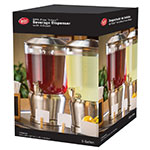 Tablecraft 85 Single Beverage Dispenser w/ 5-gal Capacity & Removable Infuser, Stainless