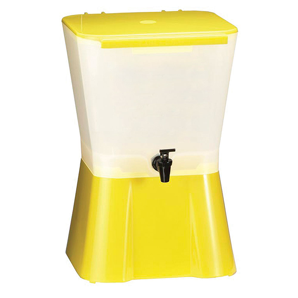 Tablecraft 955 Beverage Dispenser, 3 Gallon, Yellow Base,...