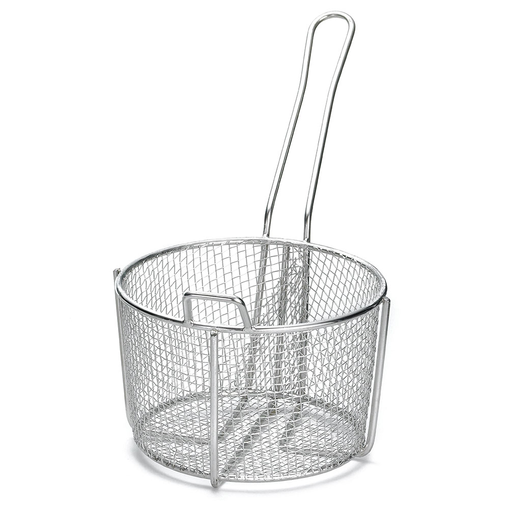 """Tablecraft 987 8.25"""" Round Fryer Basket, Steel"""