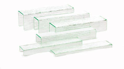 Tablecraft A6 6 Piece Cristal Collection Riser Set, All 15.75 in H, Acrylic