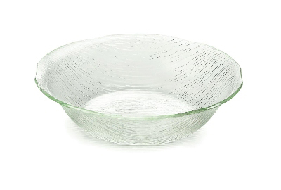 Tablecraft AB134 Round Cristal Collection Bowl, 13.75 x 3.5 in, Acrylic