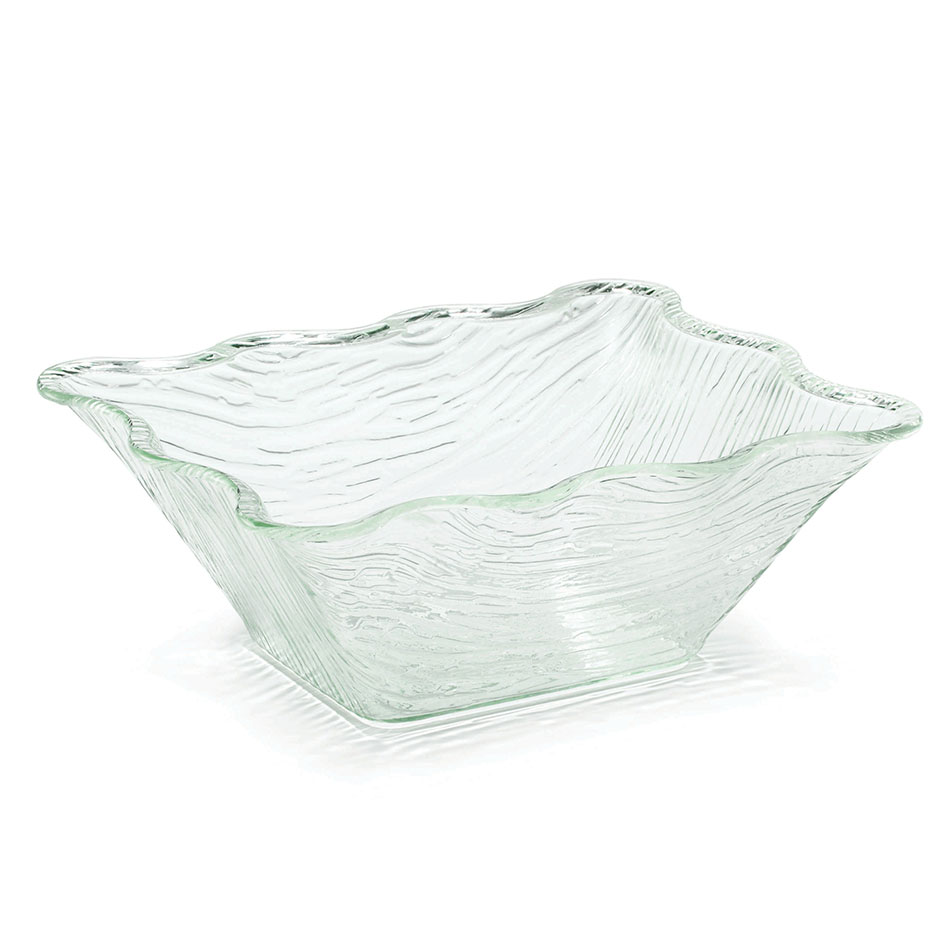 Tablecraft AB1411 Rectangular Cristal Collection Bowl, 13.5 L x 11 W x 5 in H, Acrylic