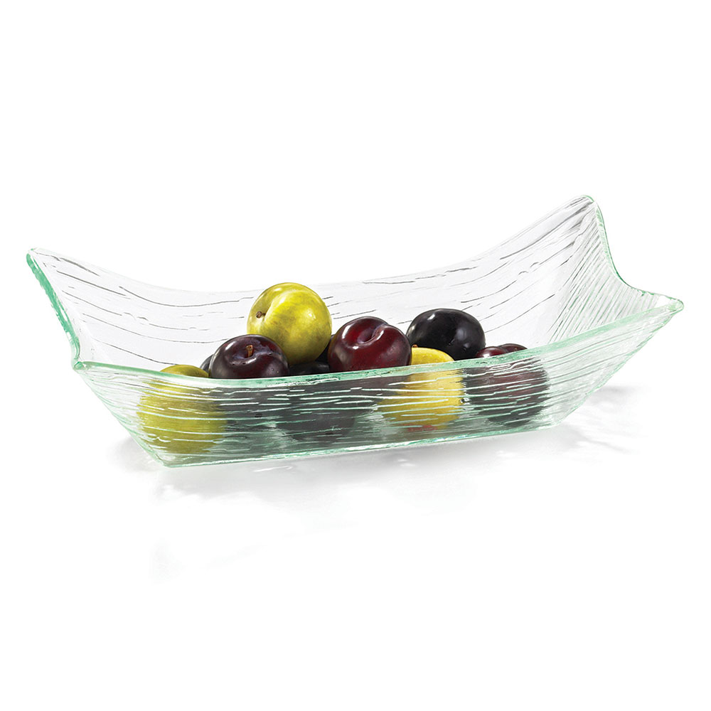 "Tablecraft AB157 Rectangular Cristal Collection Bowl, 14.25 L x 7.5 W x 4""H, Acrylic"