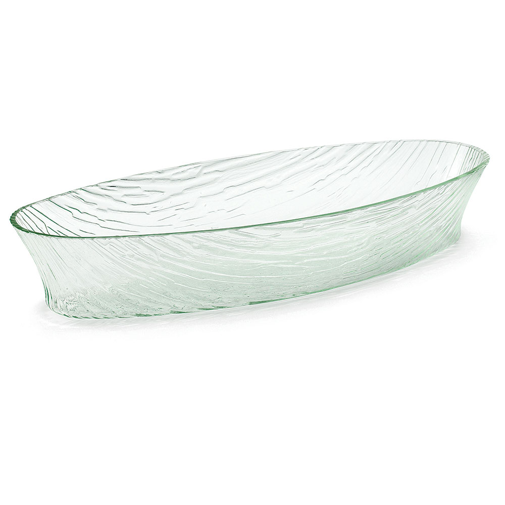 Tablecraft AB209 Oval Cristal Collection Bowl, 19.25 L x 8 W x 3.5 in H, Acrylic