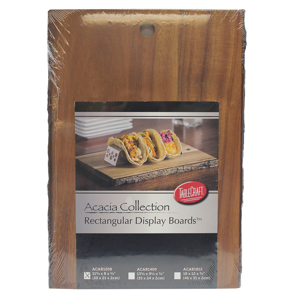 "Tablecraft ACAR1208 Display Board - 12"" x 8"", Bark-Lined Wood"