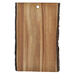 "Tablecraft ACAR1409 Display Board - 14"" x 9"", Bark-Lined Wood"