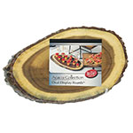 "Tablecraft ACAV1608 Oval Display Board - 16"" x 8"", Bark-Lined Wood"