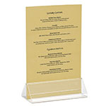 "Tablecraft ACH42 Triangle Menu Holder, 4 x 2 x 1.5"", Acrylic"