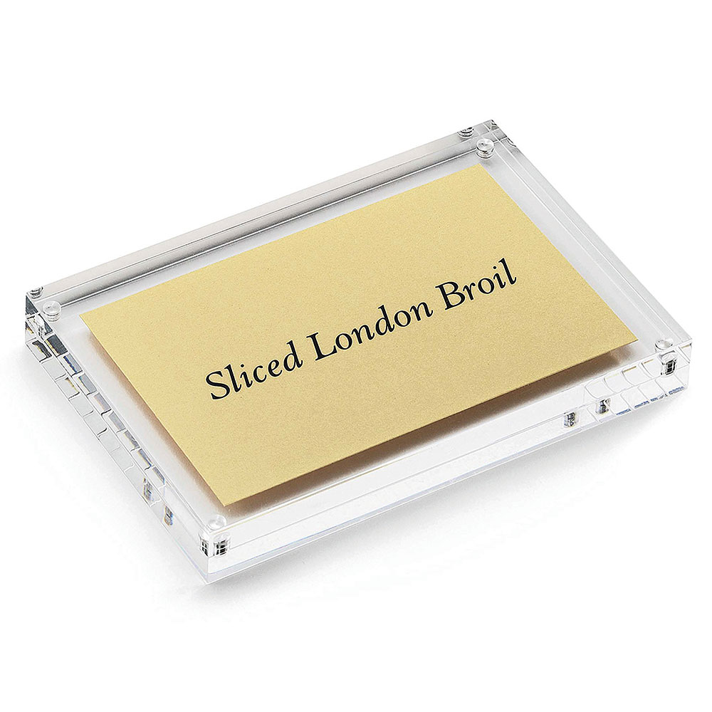 "Tablecraft ACH46 Rectangular Magnetic Card Sign Holder, 4 x 4 x .75"", Acrylic"