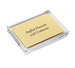 Tablecraft ACH57 Rectangular Magnetic Card Sign Holder, 5 x 5 x 7-in