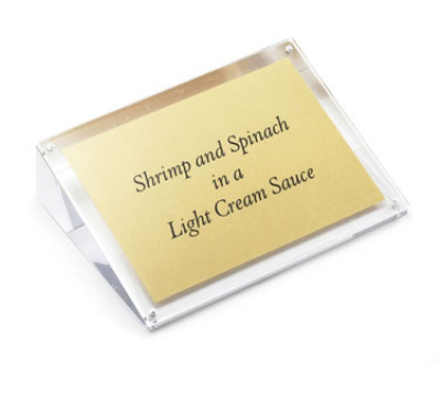 "Tablecraft ACHS57 Tabletop Menu Card Holder - 5"" x 7"", Acrylic"