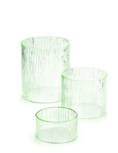 Tablecraft AR3 Round Cristal Collection Riser Set, 3 Piece, One Each 8 & 7 & 6 in Dia, Acrylic