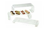 Tablecraft ARC3 3-Piece Riser Set w/ Curved Legs, Acrylic