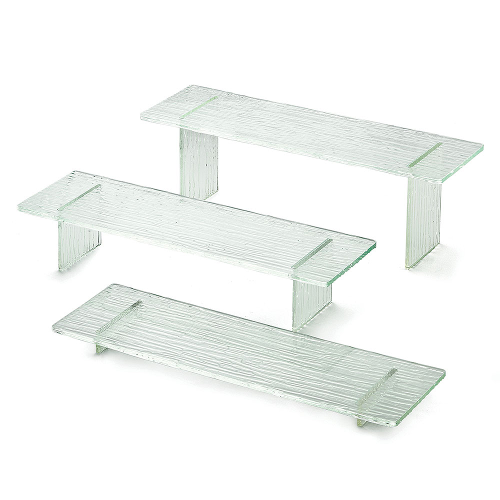 Tablecraft ARL3 3-Piece Riser Set w/ Straight Legs, Acrylic