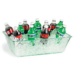 "Tablecraft AT2012 Rectangular Cristal Collection Beverage Tub, 20 L x 12 W  x 6""H, Acrylic"