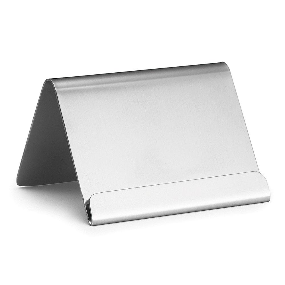 "Tablecraft B17 Stainless Steel Card Holder w/ Lip, 2-1/2 x 2 x 2"""