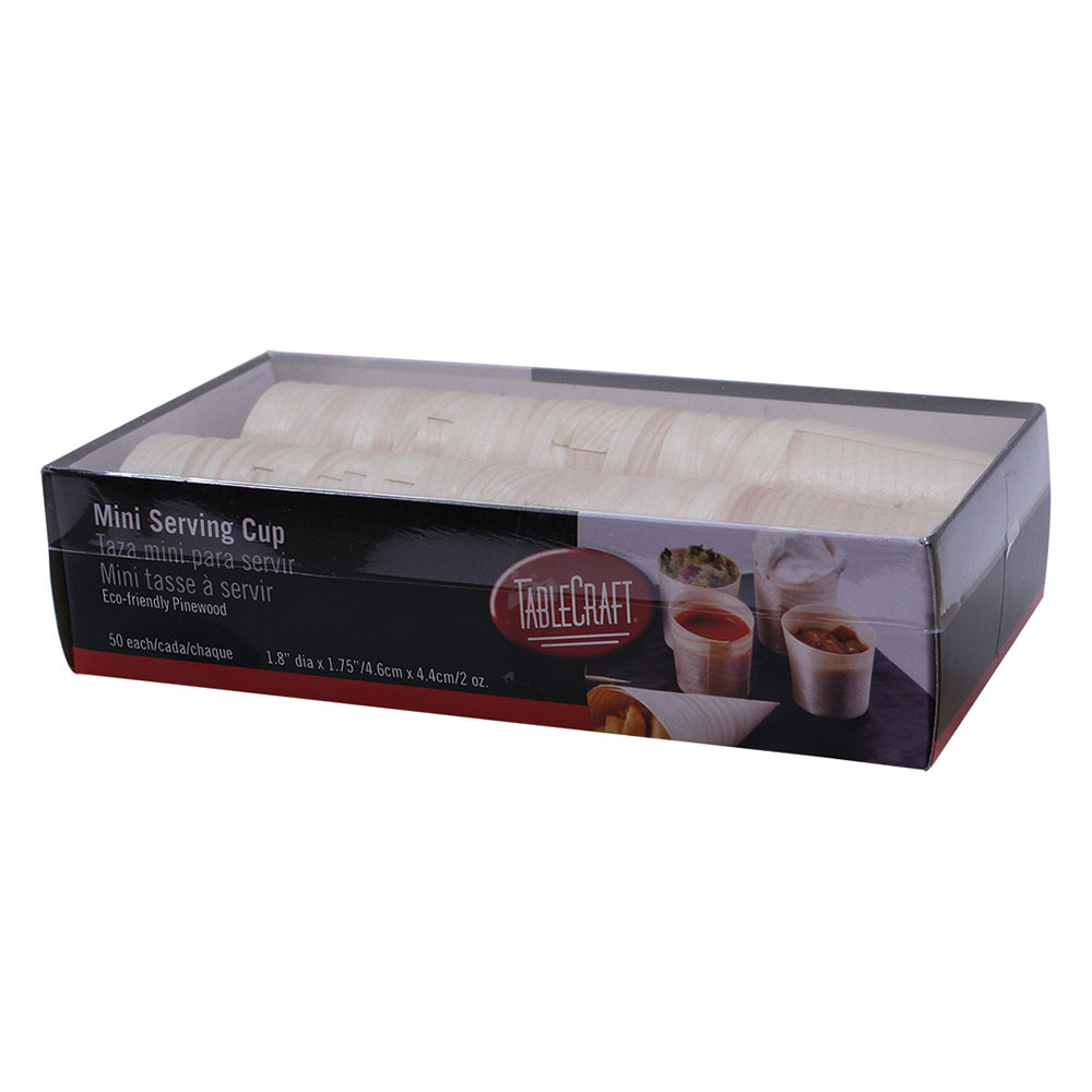 Tablecraft BAMDCP2 2-oz Disposable Serving Cup - Pinewood