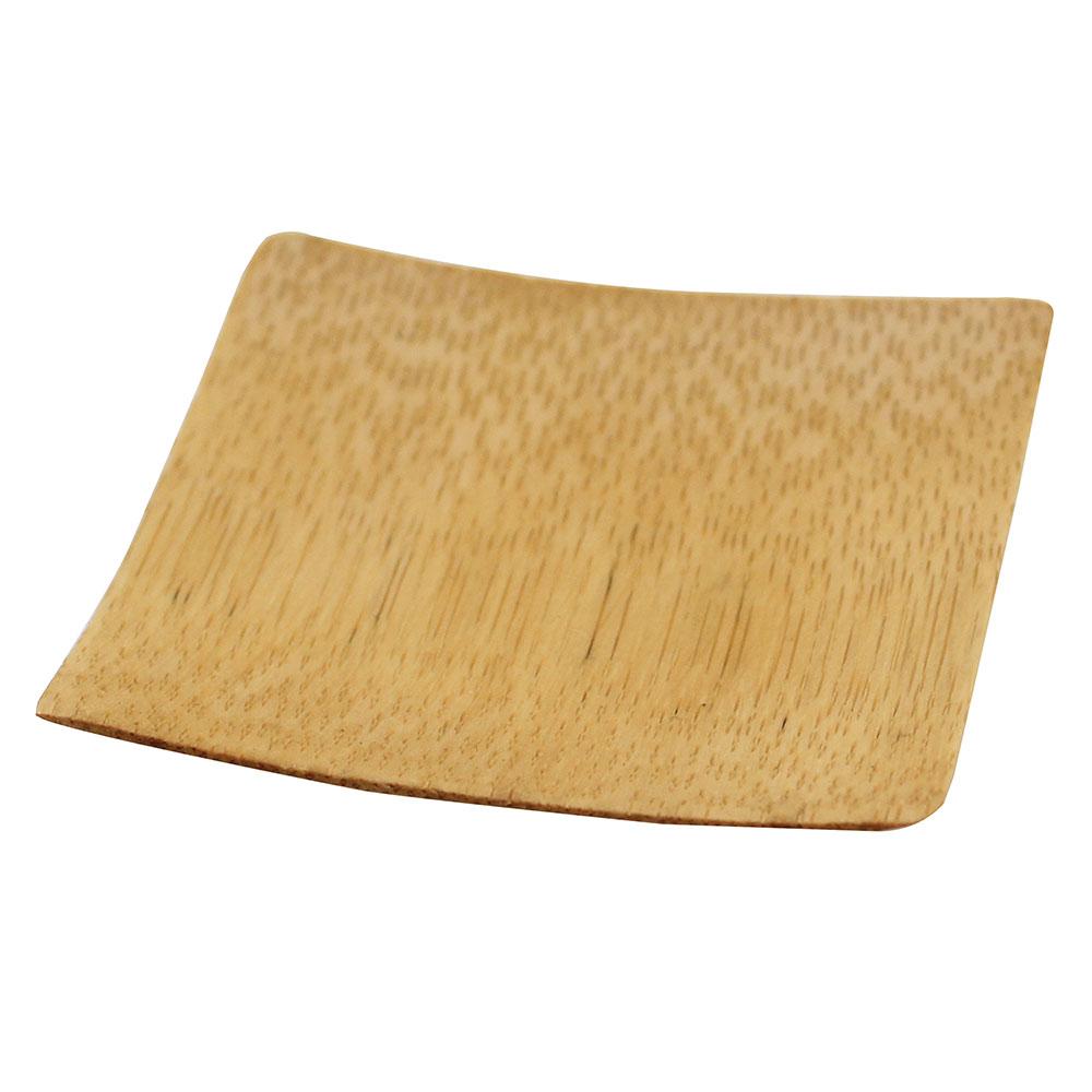 "Tablecraft BAMDRBAM2 2.5"" Round Disposable Plate - Bamboo"