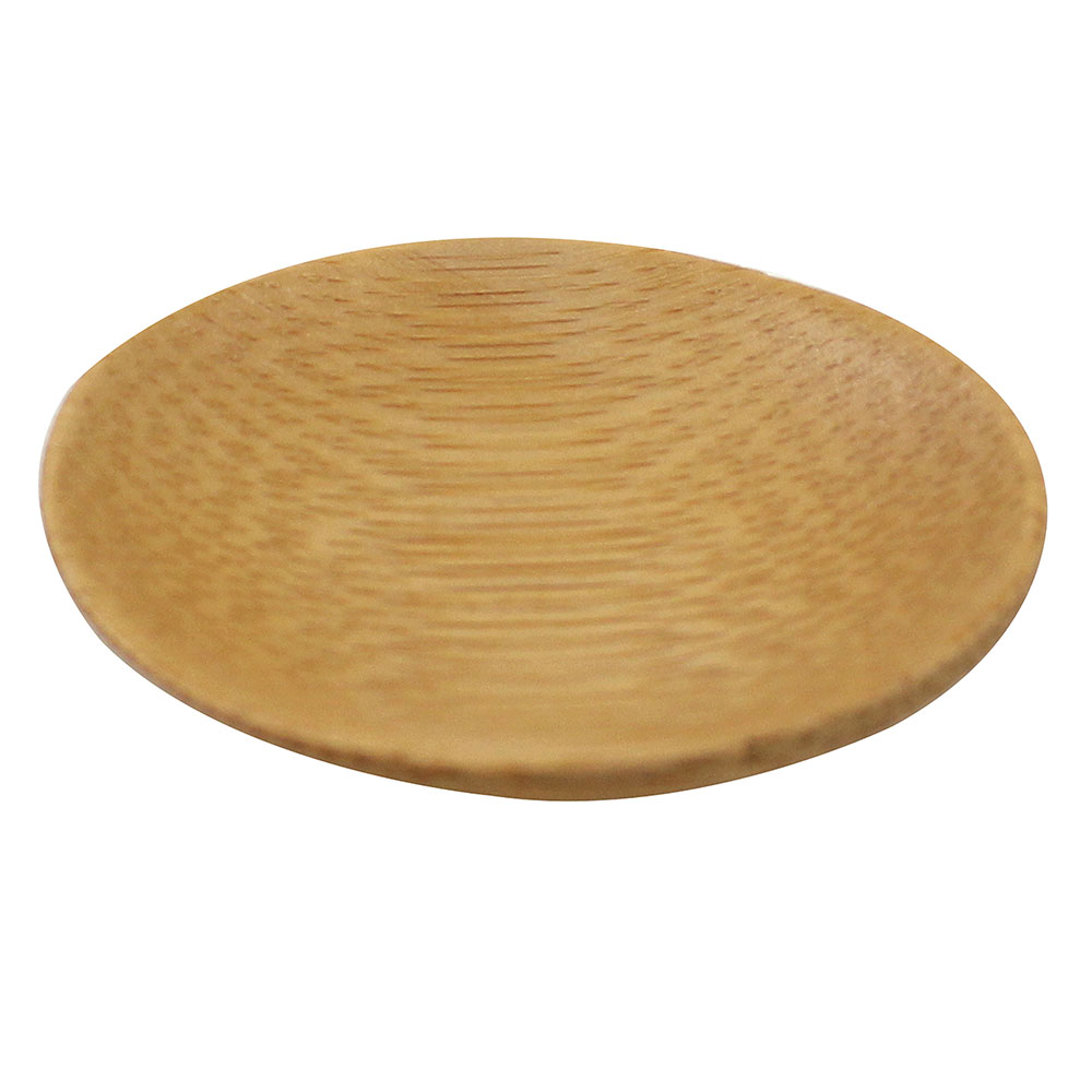 "Tablecraft BAMDSBAM2 2.5"" Round Disposable Dish - Bamboo"