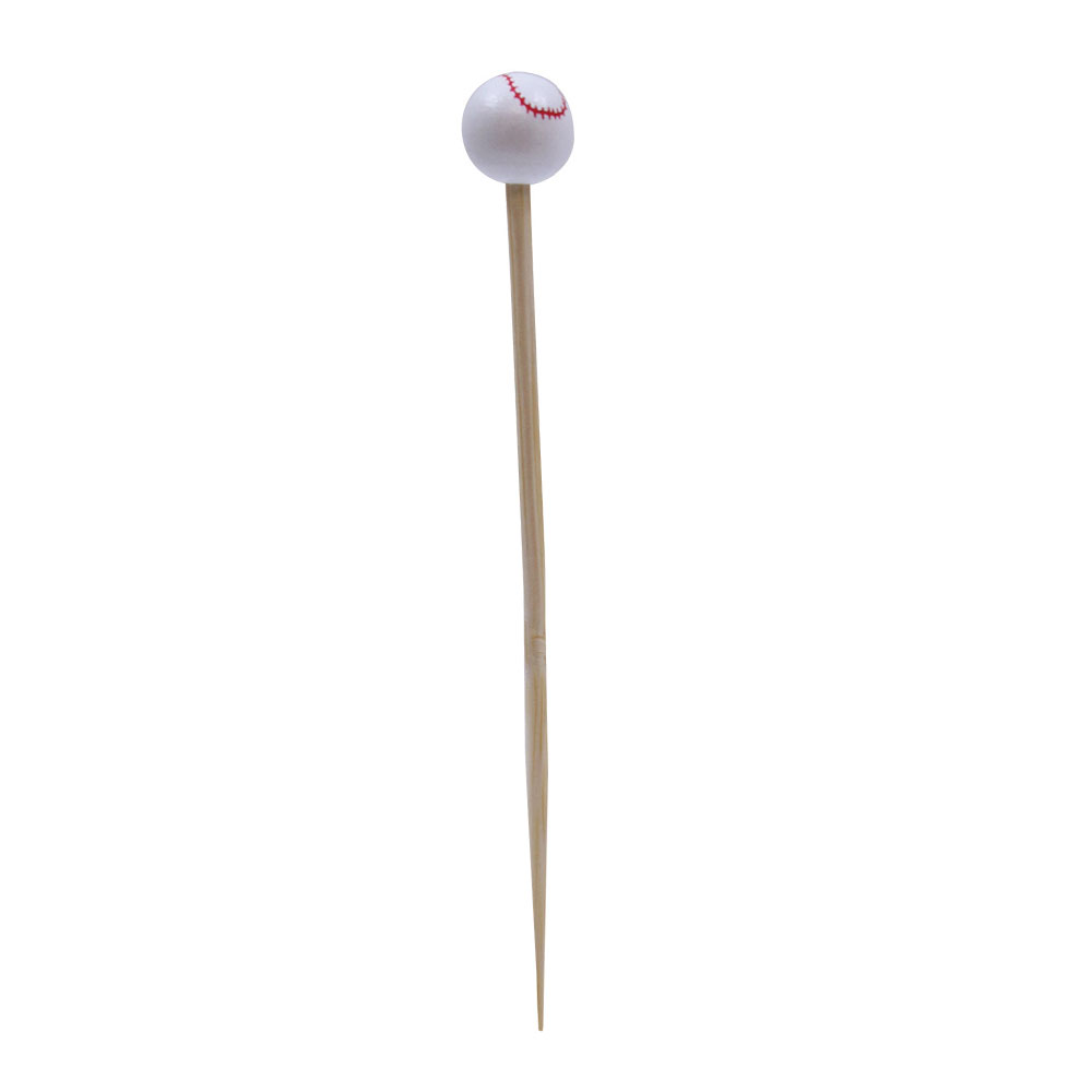 "Tablecraft BAMSP145 4.5"" Bamboo Baseball Pick"