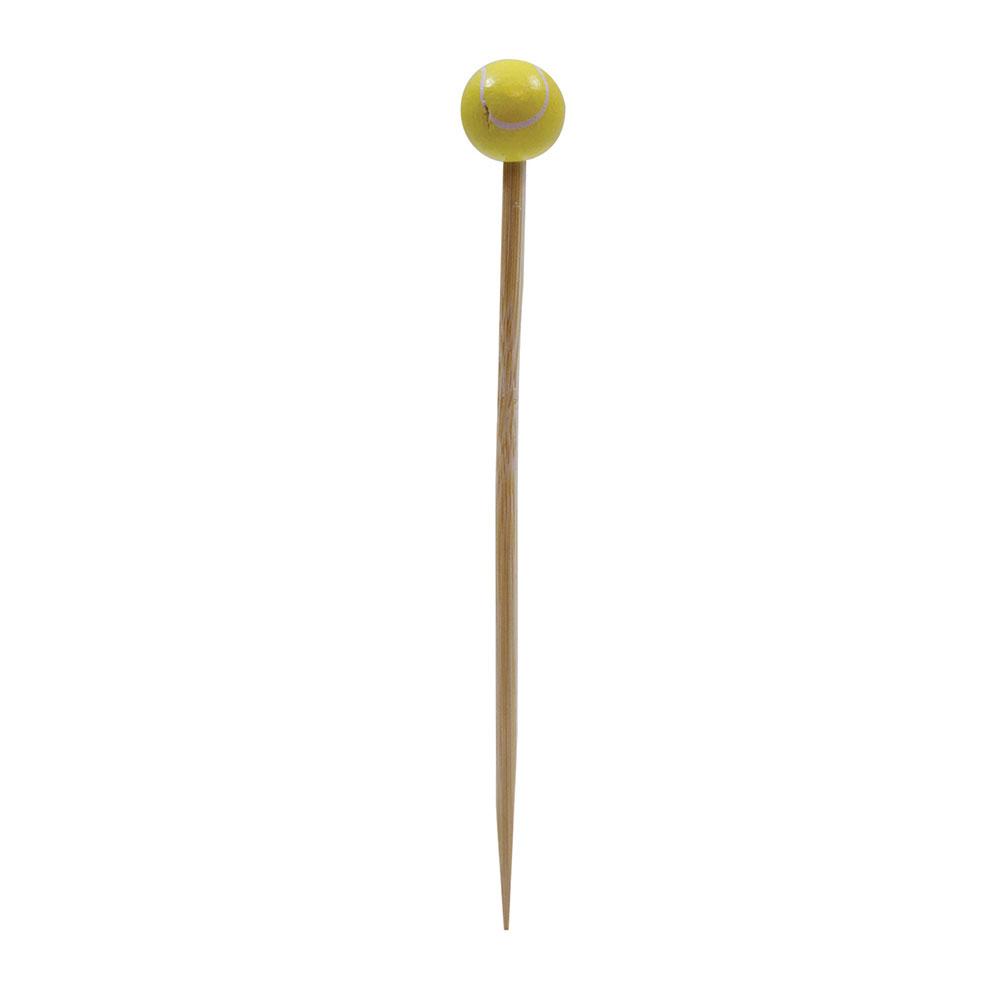 """Tablecraft BAMSP445 4.5"""" Bamboo Tennis Ball Pick"""