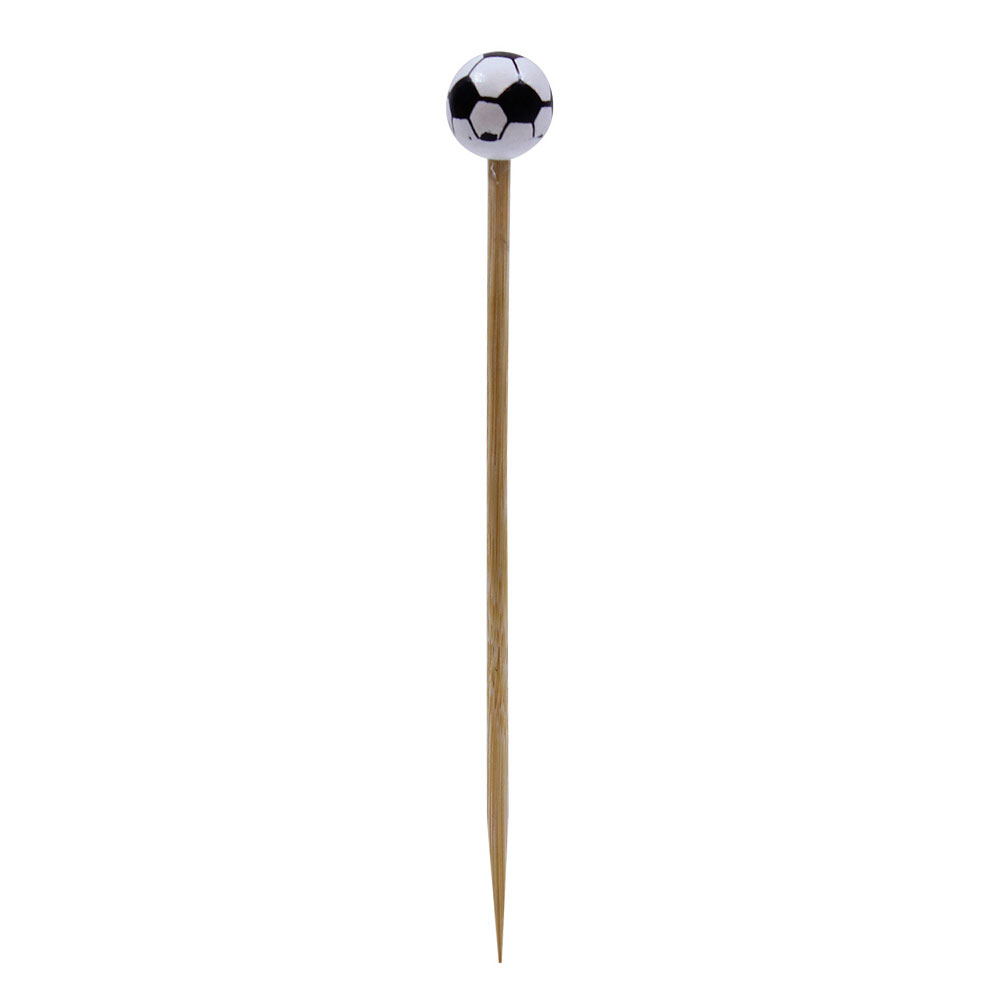 "Tablecraft BAMSP545 4.5"" Bamboo Soccer Ball Pick"