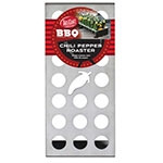 """Tablecraft BBQ3500 Chili Pepper Cone Holder/Roaster - 11"""" x 5"""", Stainless"""