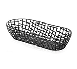 Tablecraft BC1815 Black Metal Serving Basket, 15 x 6.25 x 3 in