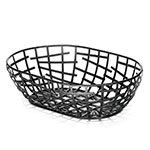 Tablecraft BC7409 Black Metal Basket, 9 x 6 x 2 in
