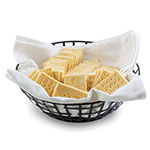 Tablecraft BC7508 Round Black Metal Basket, 8 x 2.5 in
