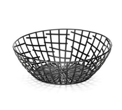 Tablecraft BC7510 Round Complexity Collection Basket 10 x 3.25 i Restaurant Supply