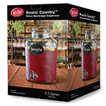 "Tablecraft BDG2000 2-gal Beverage Dispenser w/ Chalkboard Necklace - 10.75"" x 16.25"", Glass"