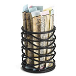 Tablecraft BK155 Round Artisan Collection Sugar Packet Holder, 2 x 2.5 in, Black Metal