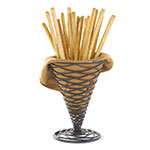 Tablecraft BK157 Artisan Collection Appetizer Cone, 4.75 x 6.75 in, Black Powder Coated Metal