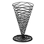 Tablecraft BK159 Artisan Collection Appetizer Cone, 5.25 x 9 in, Black Powder Coated Metal