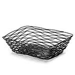"Tablecraft BK17212 Rectangular Artisan Collection Basket, 12 L x 9 W x 3.5""H, Metal, Black"