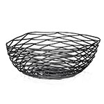 Tablecraft BK17310 Square Artisan Collection Basket, 10 x 4 in, Metal, Black