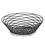"Tablecraft BK17508 Artisan Collection Basket, 8"" X 2"" Round, Black"