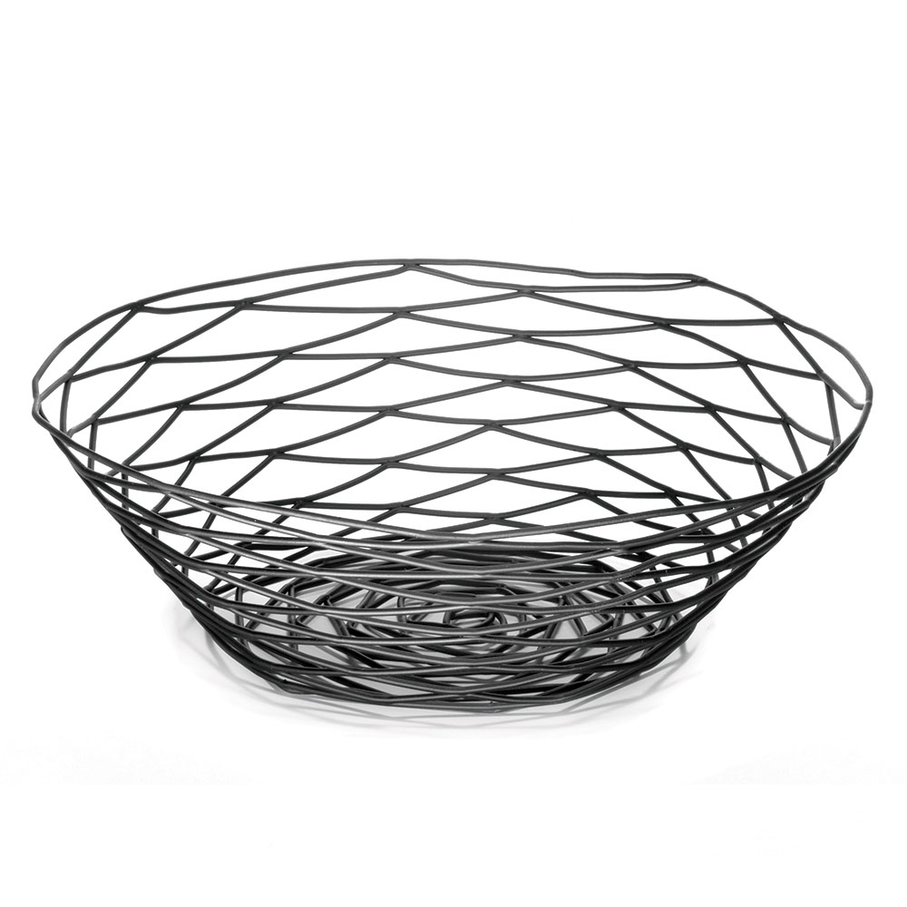 "Tablecraft BK17510 Artisan Collection Basket, 10"" Round, Black"