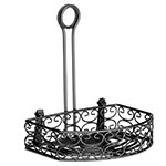 "Tablecraft BK267912 Black Powder Coated Metal Versa Rack w/ 8-3/4"" Back"