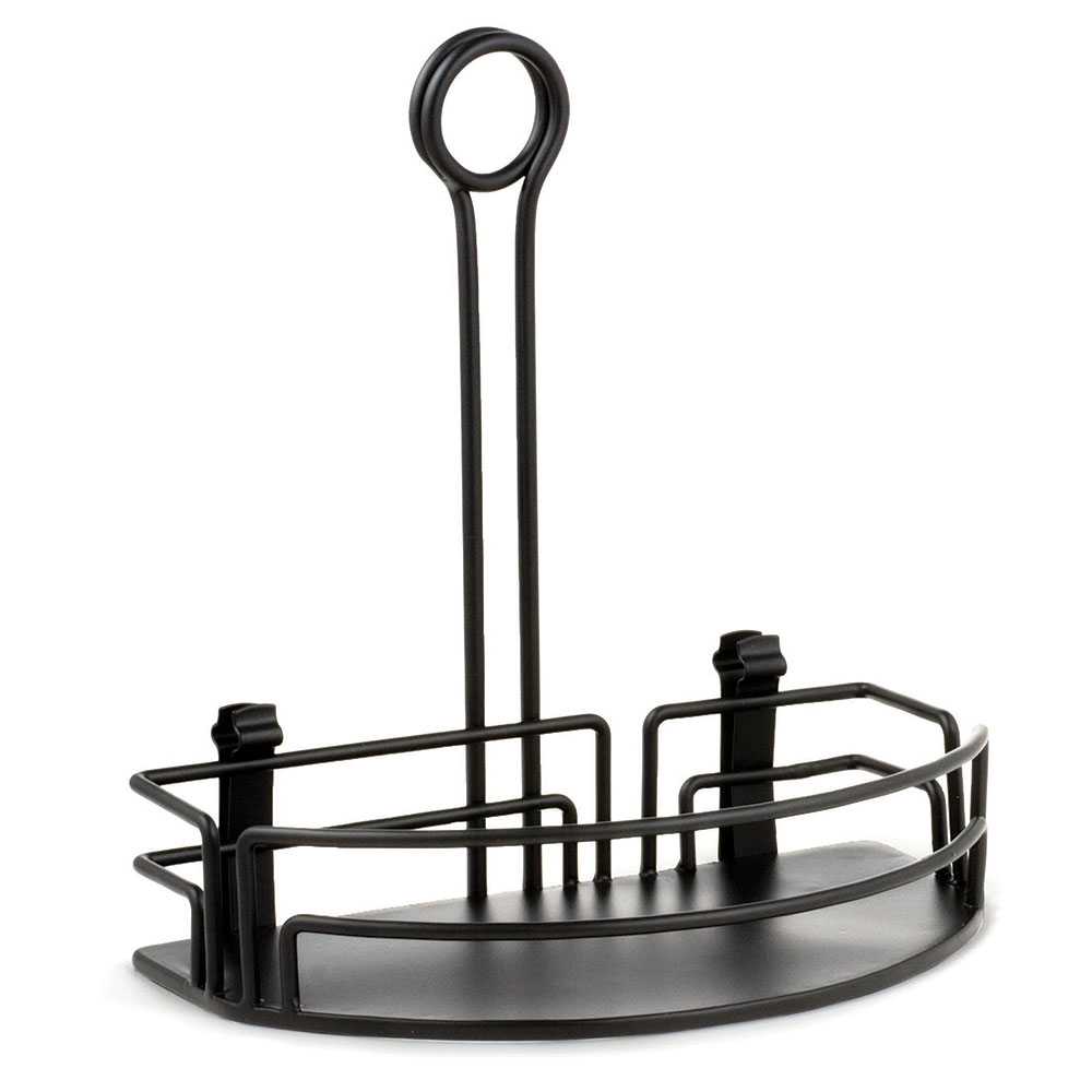 "Tablecraft BK59512 Black Powder Coated Versa Rack w/ 8-1/2"" Back, Half Rack"
