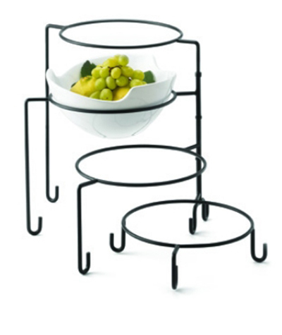 Tablecraft BKRR3 Round 3 Piece Riser Set Metal Restaurant Supply