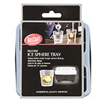 Tablecraft BSRT2 4-Section Ice Sphere Tray - Silicone, Black