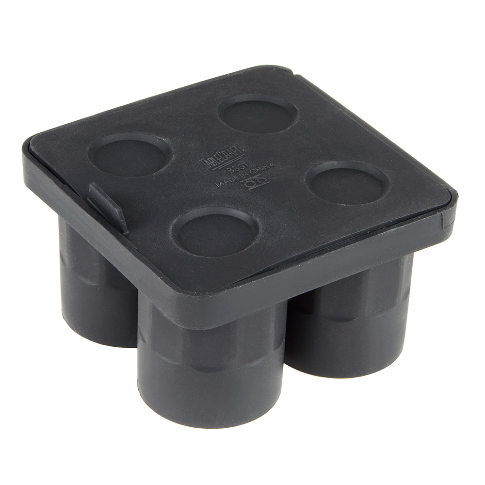 Tablecraft BSST 4-Section Shot Glass Ice Tray - Silicone, Black