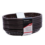 "Tablecraft C1074BR Cash And Carry Classic Baskets, 9-3/8 x 6 x 1-7/8"", Oval, Plastic, Brown"