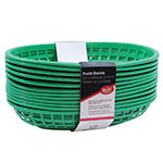 Tablecraft C1074G Cash And Carry Classic Baskets, 9-3/8 x 6 x 1-7/8-in, Oval, Plastic, Green